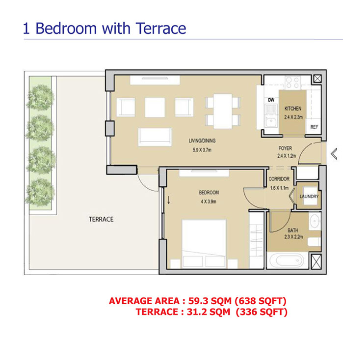 1 Bedroom With Terrace