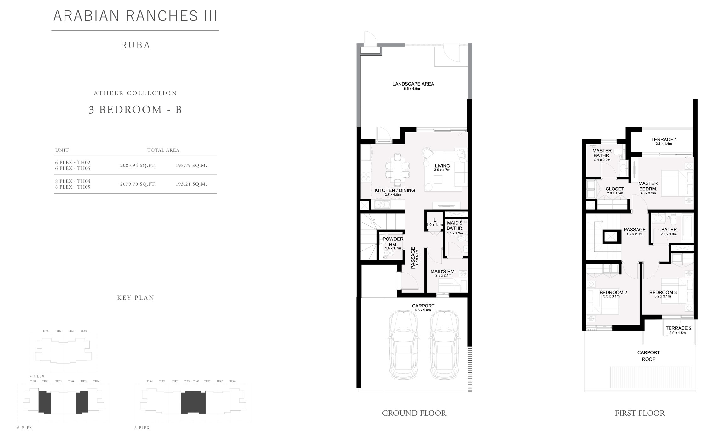 Atheer Collection 3 Bedroom B, Size 2079 Sq Ft