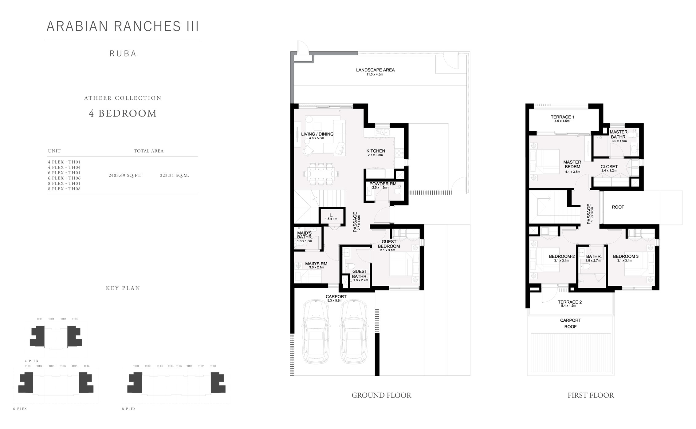 Atheer Collection 4 Bedroom, Size 2403 Sq Ft
