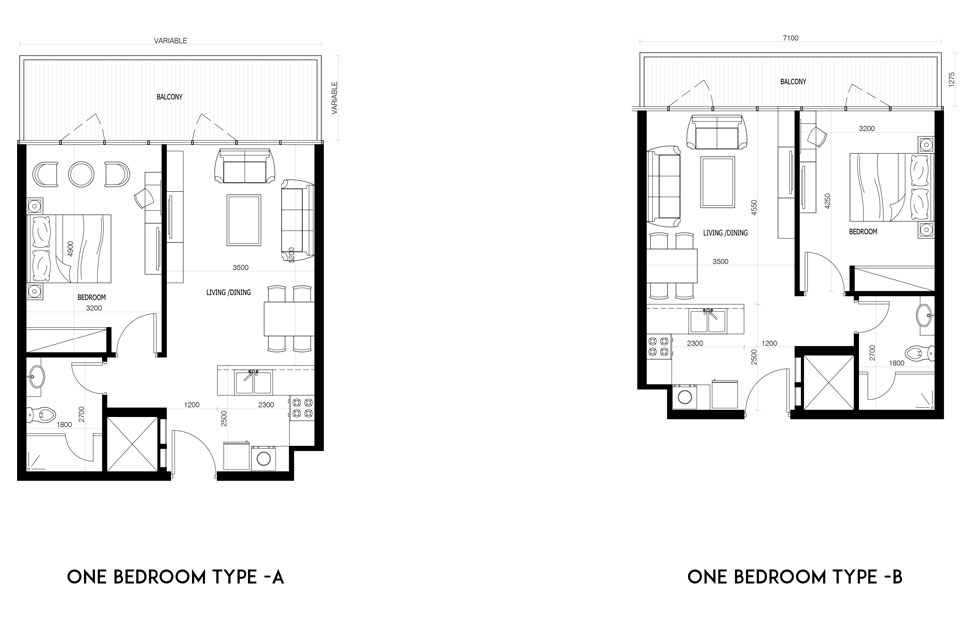 1 Bedroom-Type-A-&-B