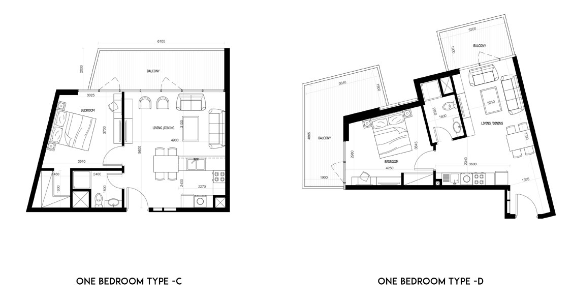 1 Bedroom-Type-C-&-D