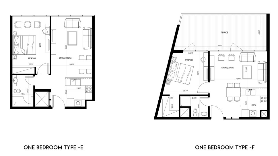 1 Bedroom-Type-E-&-F