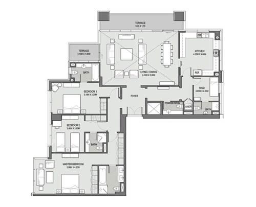 3 Bedroom Penthouse - Type - 07