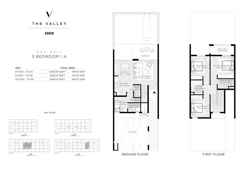 3 Bedroom I A, MAY BELL, Size 2028 Sq Ft