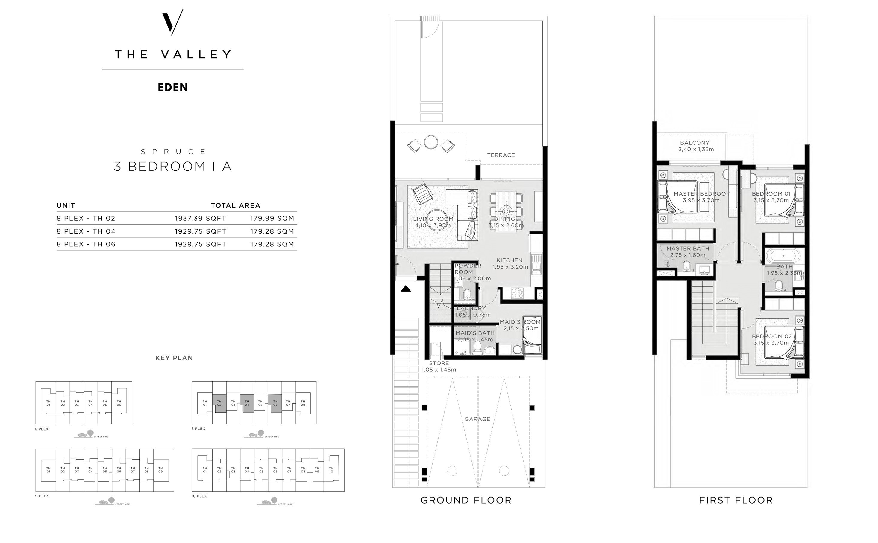 3 Bedroom I A, SPRUCE, Size 1929 Sq Ft