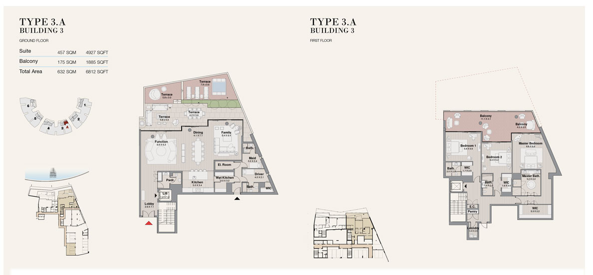 Type 3A, Building 3, Size 6812 sq.ft