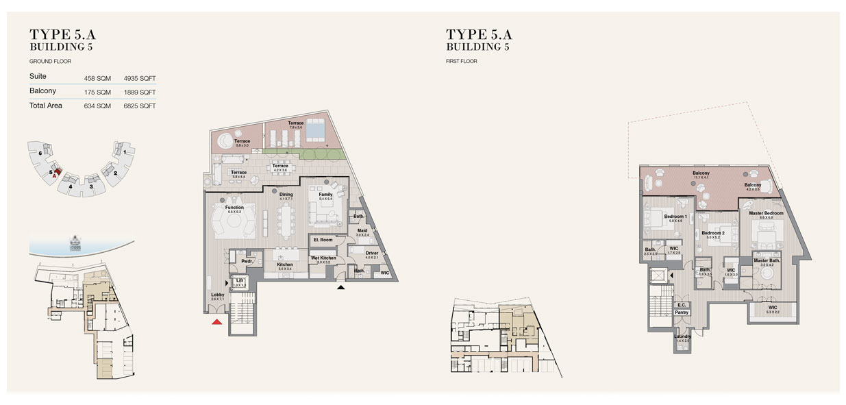Type 5A, Building 5, Size 6825 sq.ft