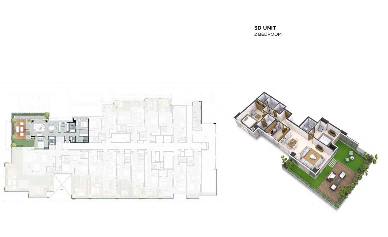 3D-Unit, 2-Bedroom