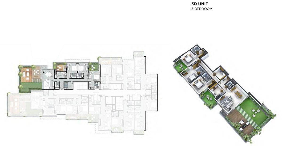3D-Unit, 3-Bedroom