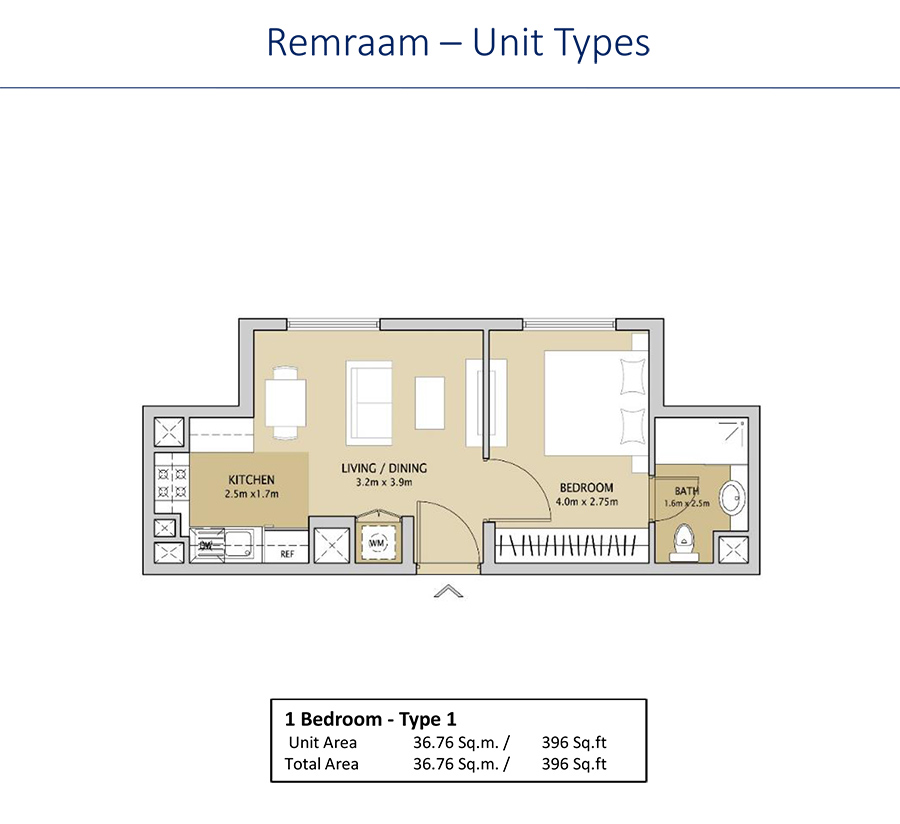1 bedroom type 1