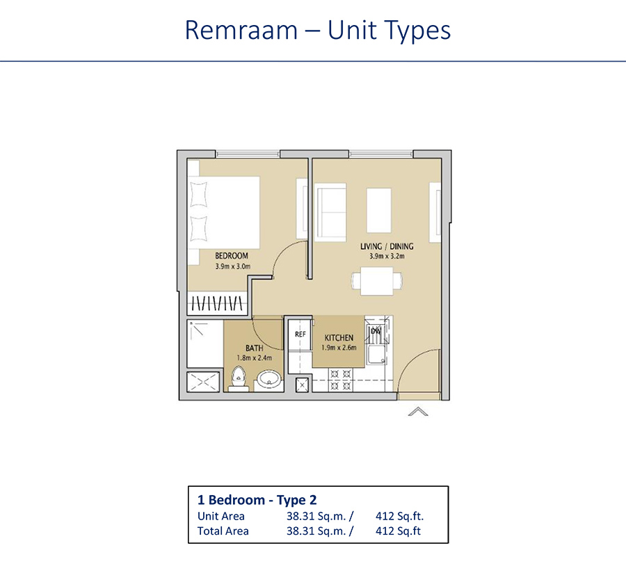 1 Bedroom Type 2