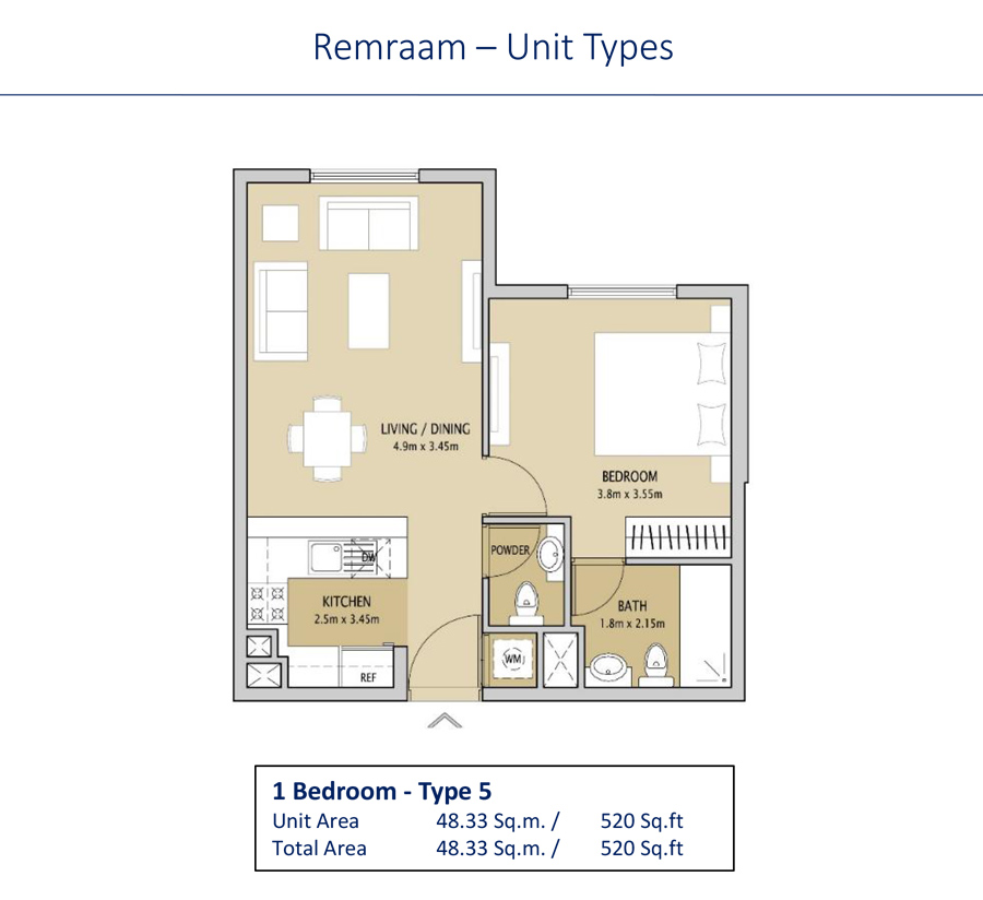 1 Bedroom Type 5