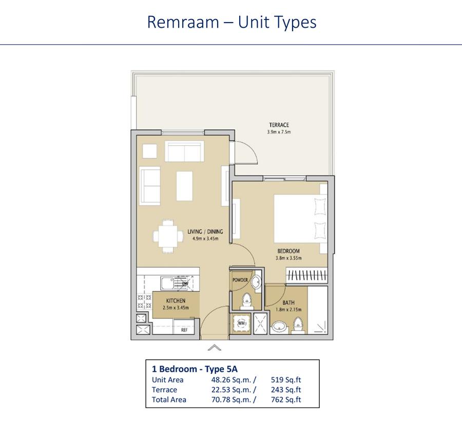 1 Bedroom Type 5A