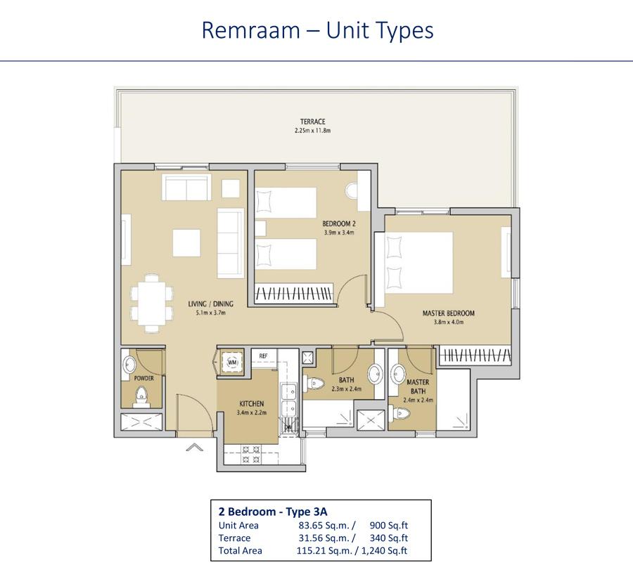 2 Bedroom Type 3A