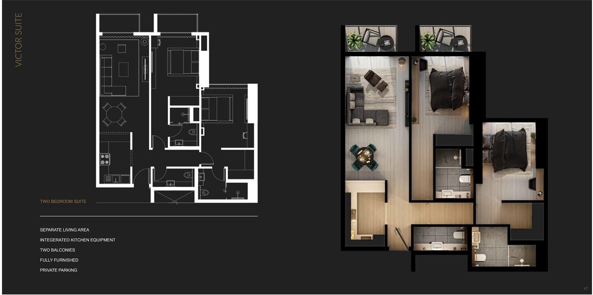 2 Bedroom Victor Suite