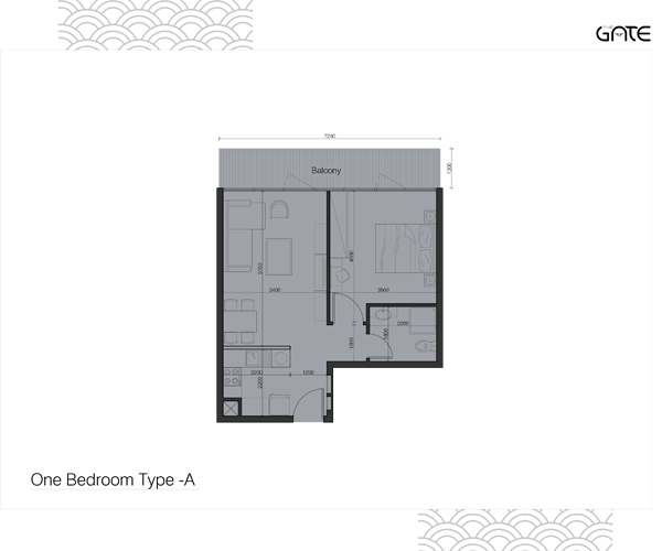 1 Bedroom Apartment Type - A