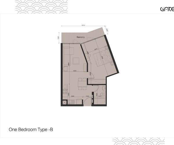1 Bedroom Apartment Type - B