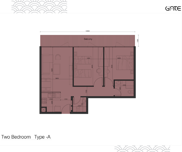 2 Bedroom Apartment Type - A