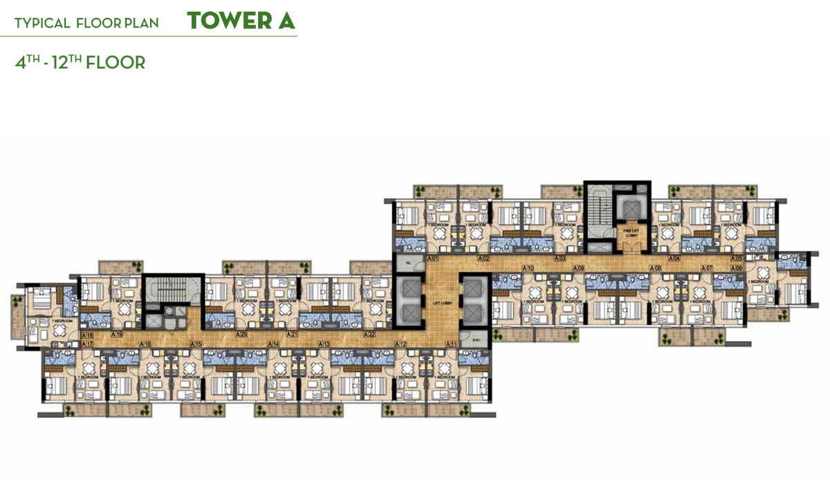 Typical Floor Plan Tower 4th to 12th