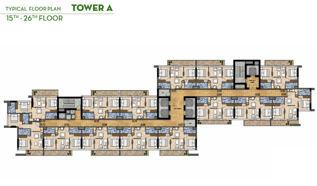 Typical Floor Plan 15th - 26th