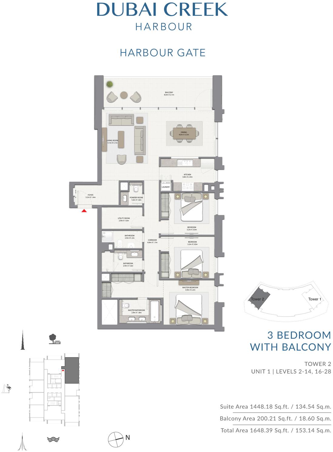 3 Bedroom With Balcony