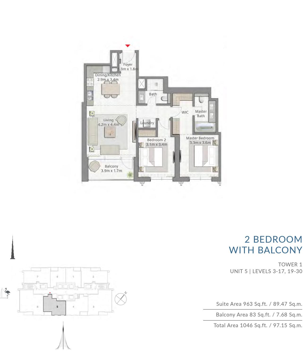 Floor-Plan-2BR T1 U5