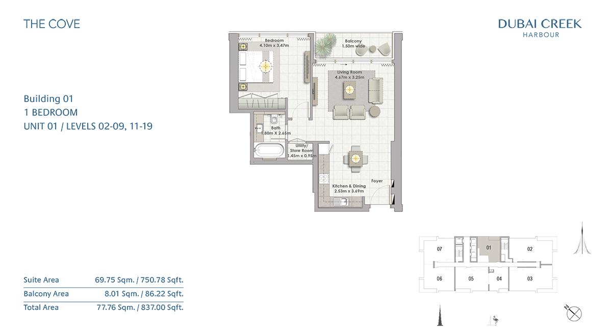 1 Bed-U1-level-02-09,11-19
