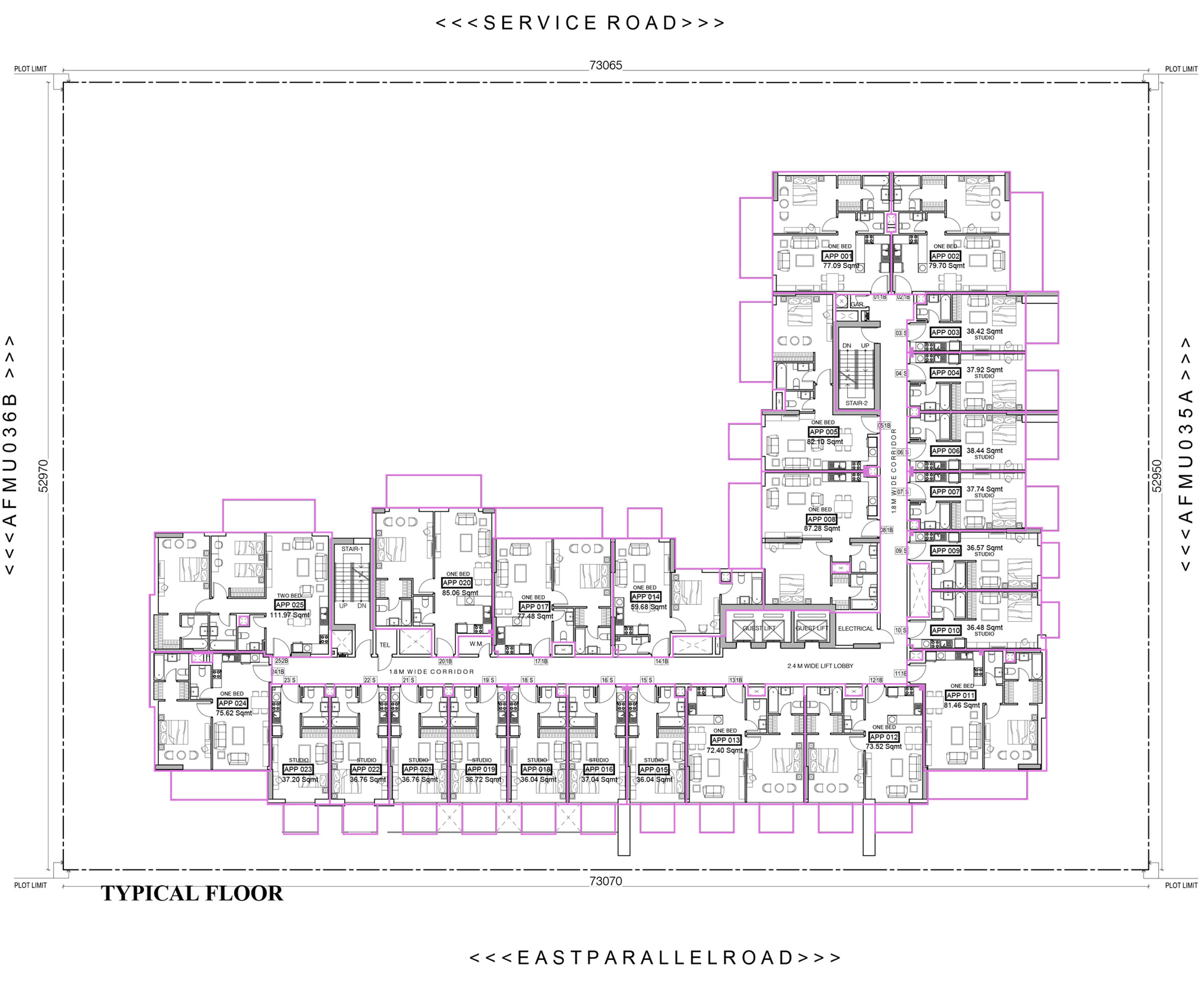 Azizi Farishta Serviced Apartments - Floor Plan