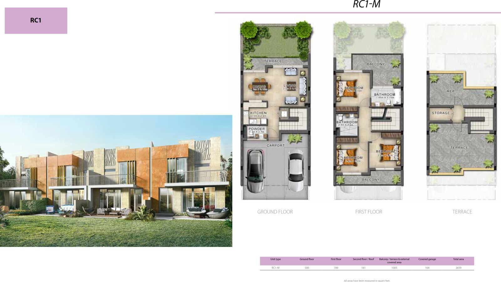 3 Bedroom Villa, Size 2699 sq ft