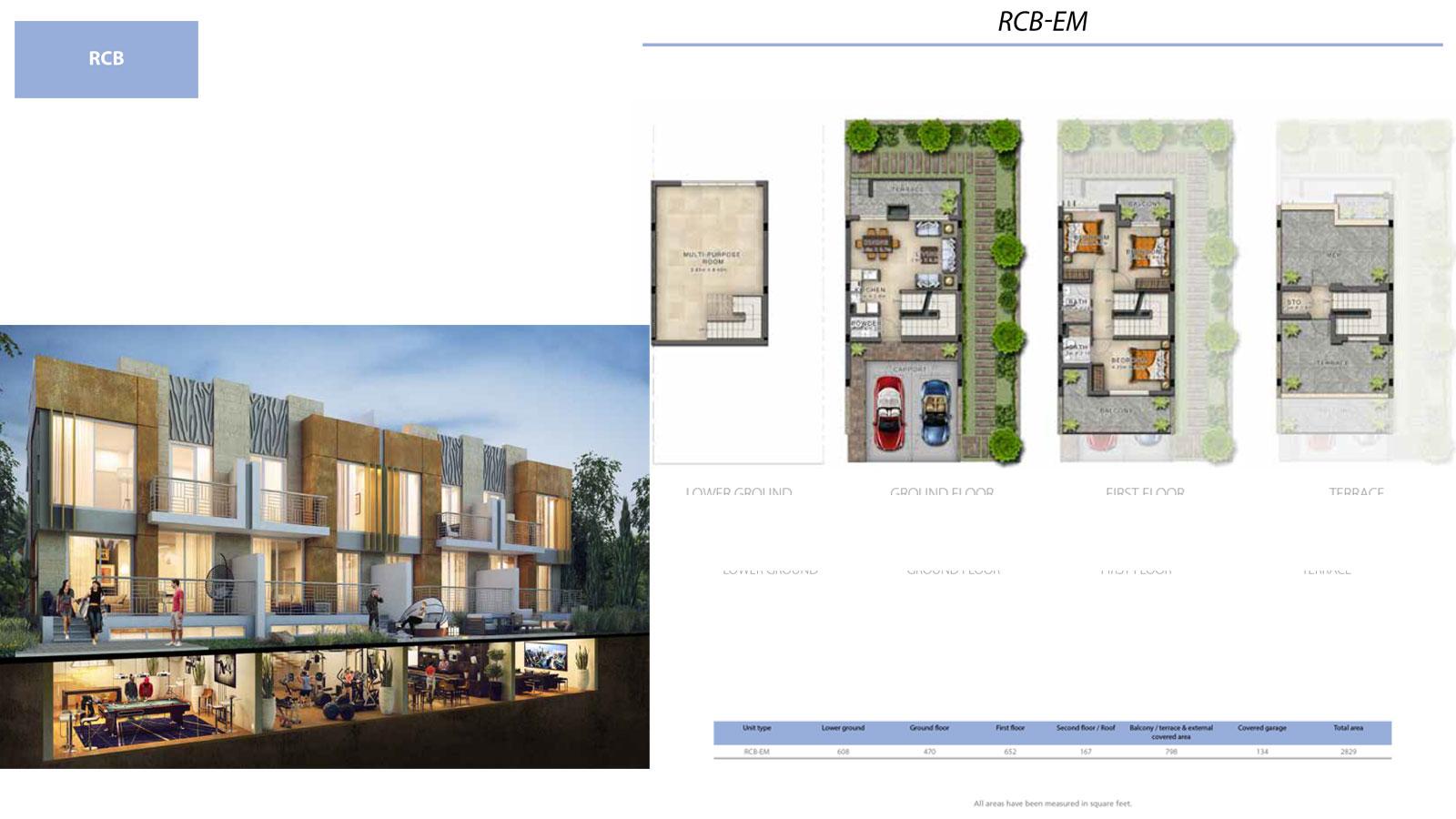 3 Bedroom Villa, Size 2829 sq ft