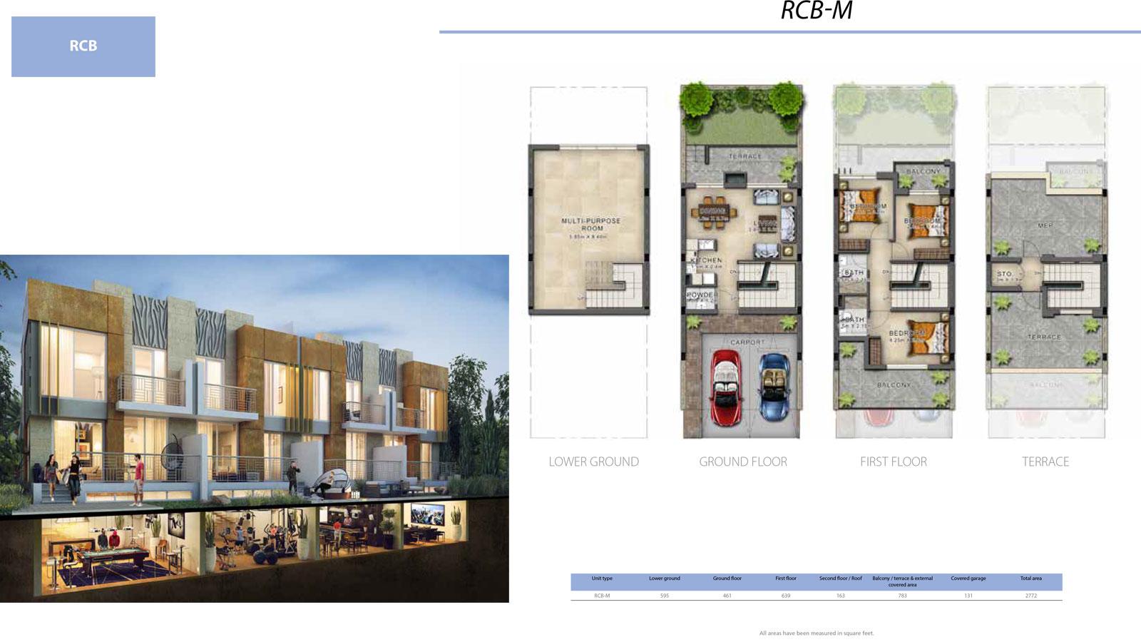 3 Bedroom Villa, Size 2772 sq ft