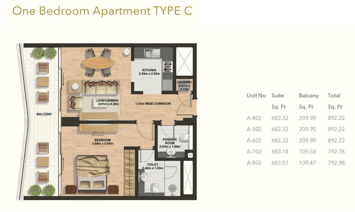 1 Bedroom -Type-C