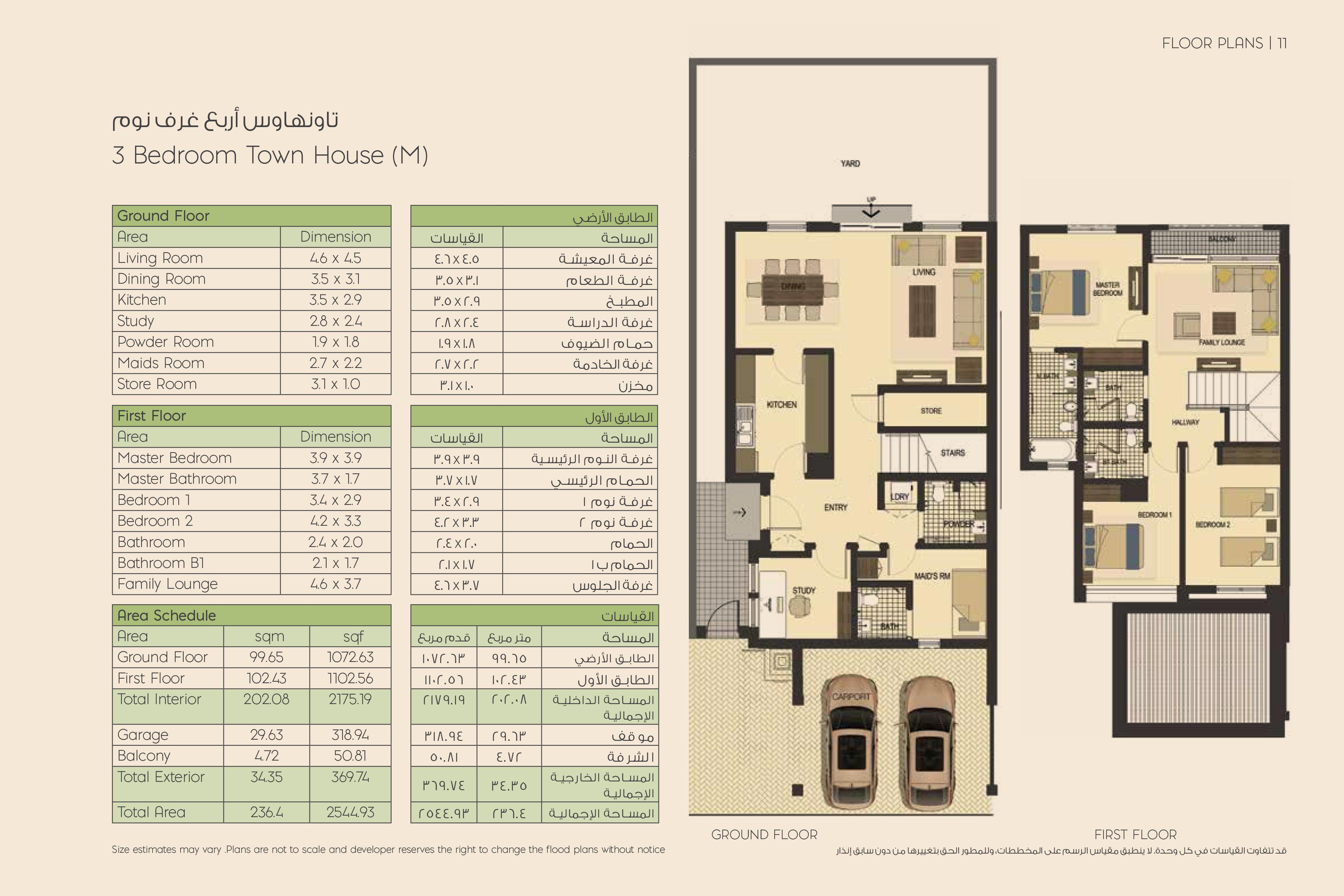 3-Bedroom Townhouses
