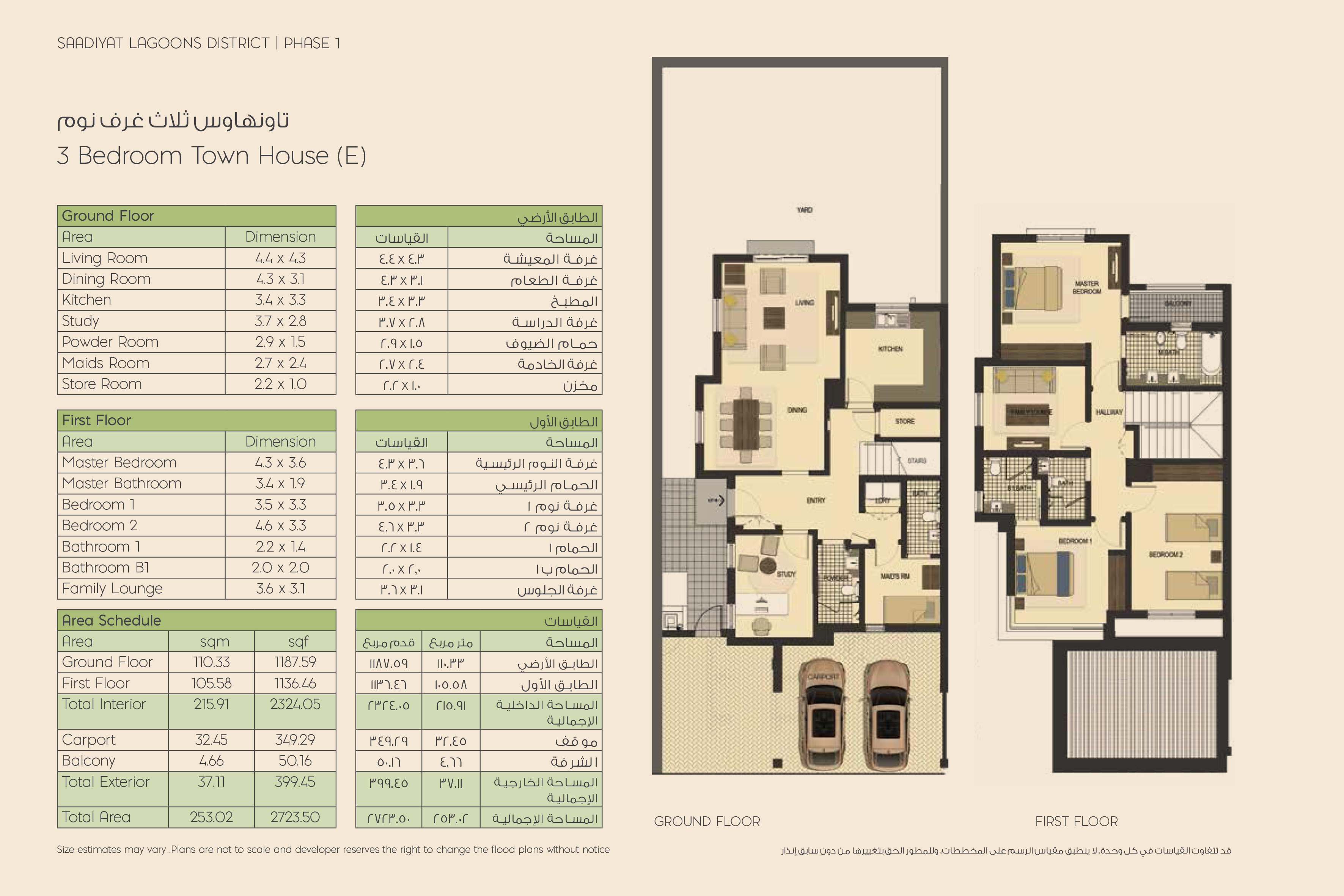 3-Bed Townhouses