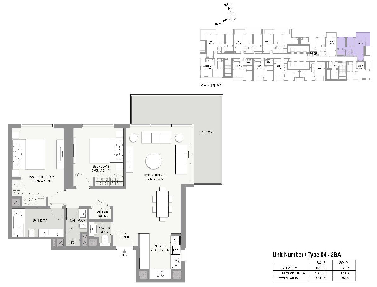 Type-04-2 Bed Apartments