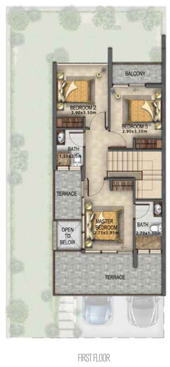 Villa Type RR-EM First Floor