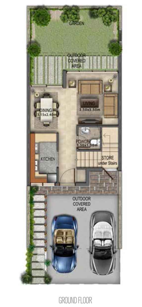 Villa Type RR-M Ground Floor
