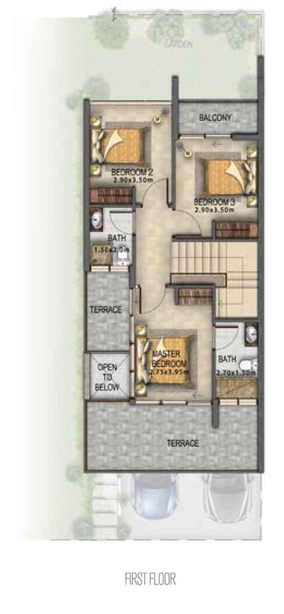 Villa-Type RR-EE First Floor