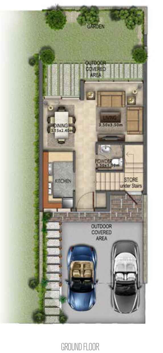 Villa-Type RR-EE Ground Floor