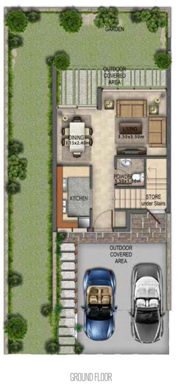 Villa-Type RR-EM Ground Floor