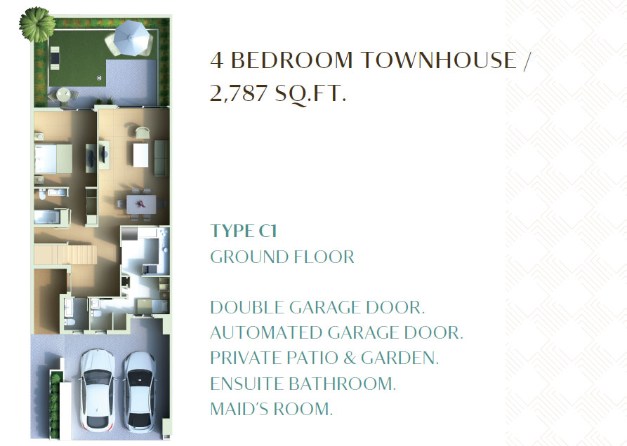 4 Bedroom Townhouse - 2787 Sq. Ft.