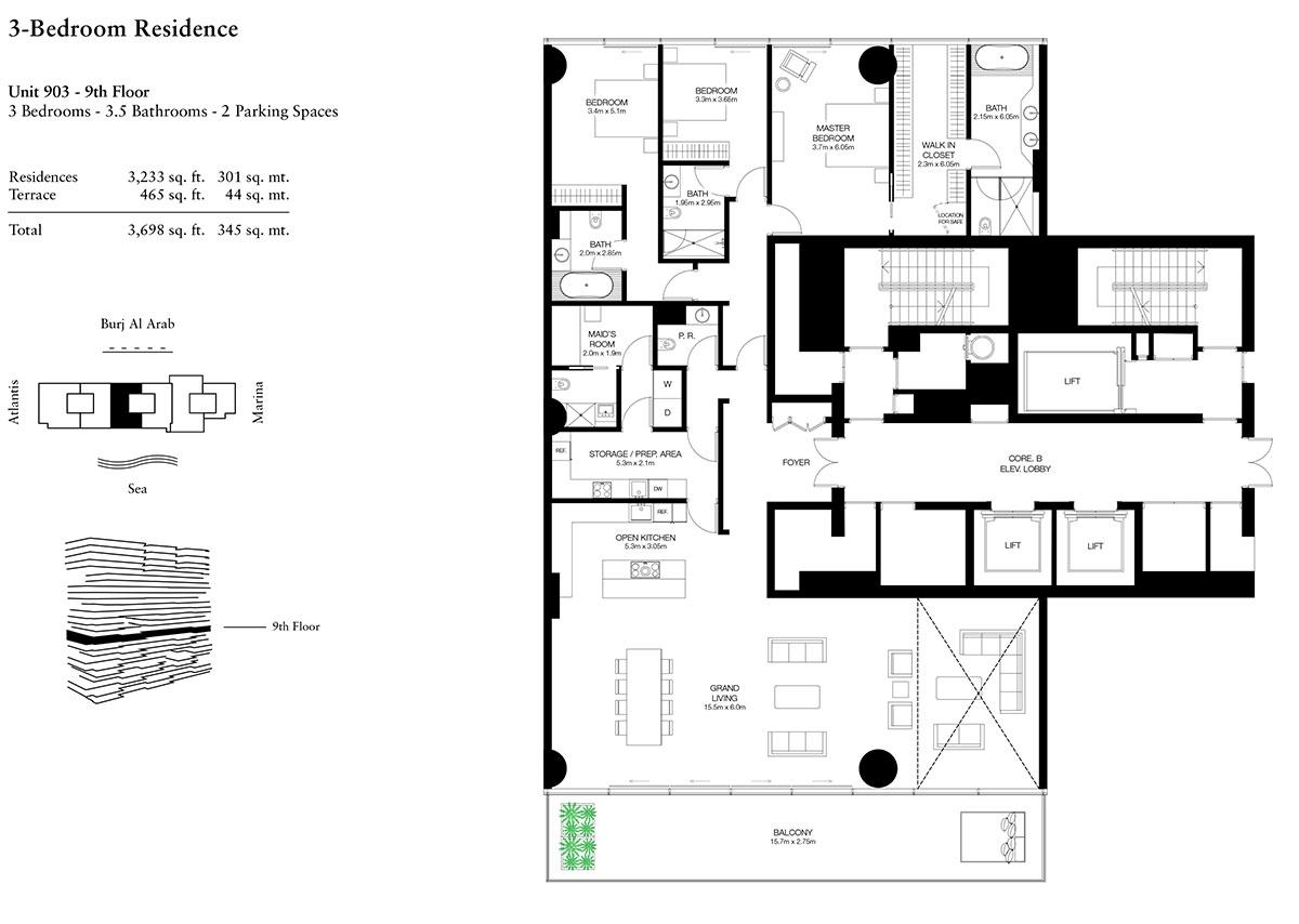 3 Bedroom-U-903-L9-S