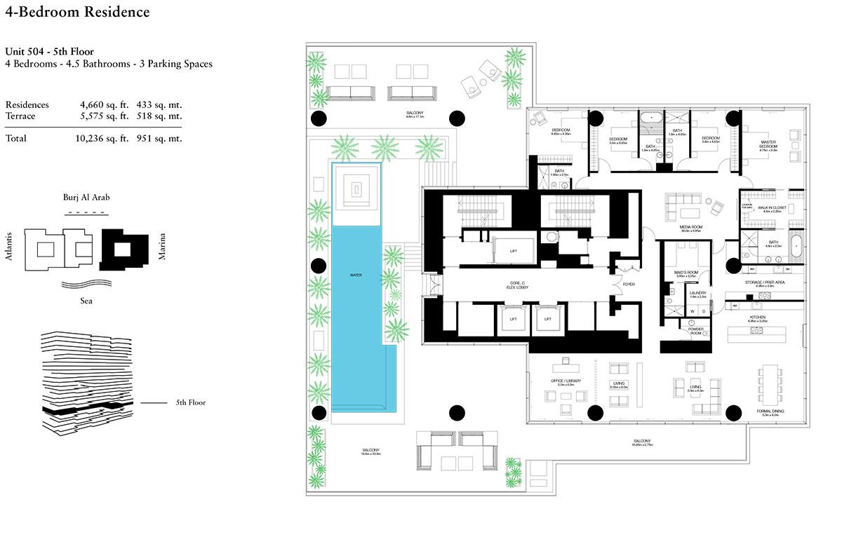 4 Bedroom-U-504-L-5-S