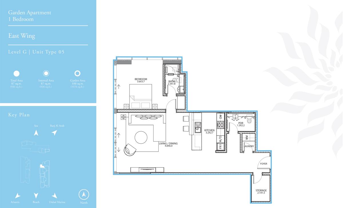 East Wing 1 Bedroom L-G T-5