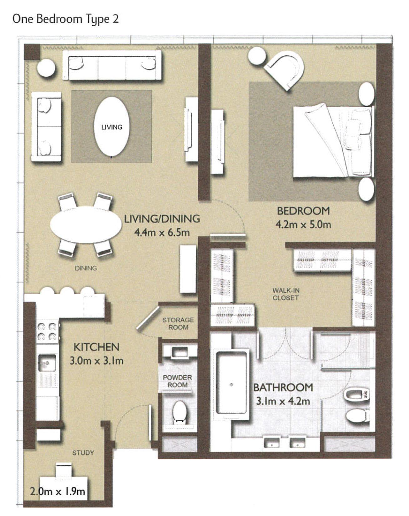 1 Bedroom Type-2