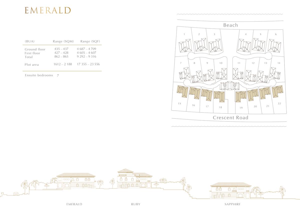 Emerald Typical Layout 7 Bedroom Villas