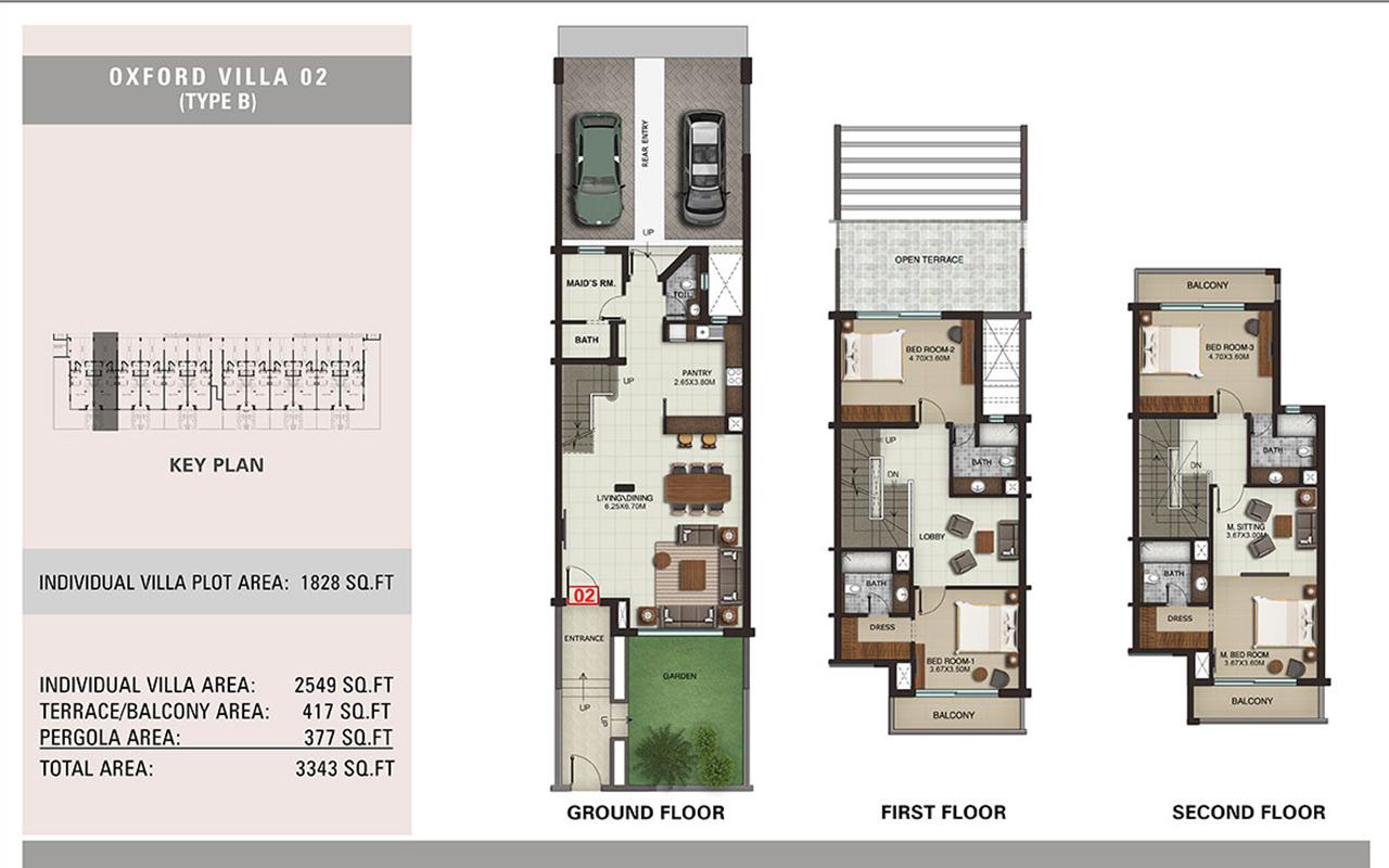 Villa Type B, Size 3343 sq.ft.