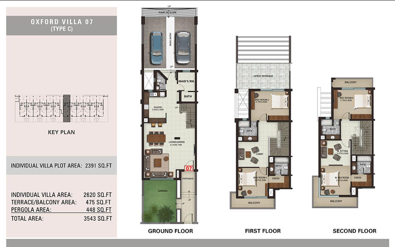 Villa Type C, Size 3543 sq.ft.
