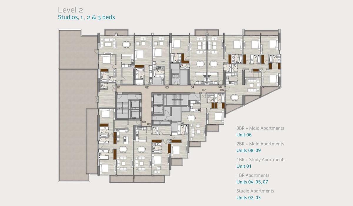 Level2-studio-1-2-3-bedroom