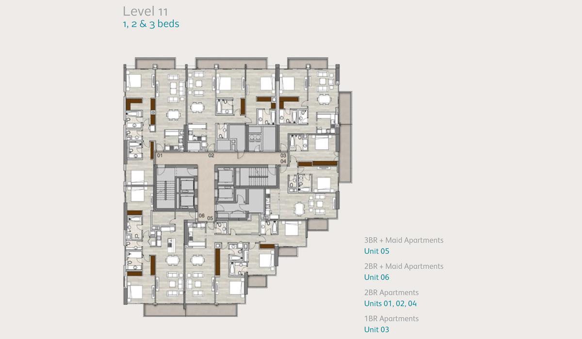 Level11-1-2-3-bedroom
